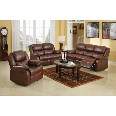 50011 BROWN LOVESEAT W/MOTION