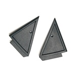 79-86 Power Mirror Mount Covers (Pair)