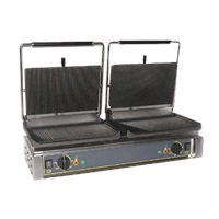 Equipex DIABLO Split-Top 33 In Sodir Electric Double Panini Grill
