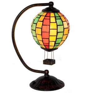 "12"" H Tiffany Style Hot Air Balloon"
