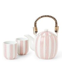 Tea Set Obi Stripe Red