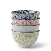 ASANOHA COLORS 5 OZ. TEACUP SET