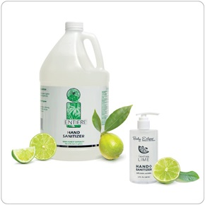 Tahitian Lime Hand Sanitizer - 70% Ethyl Alcohol (2 Gallon/Case & 10 oz. Bottle)