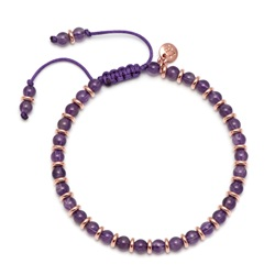 Lola Rose Notting Hill Bracelet, Dark Amethyst with Rose Gold