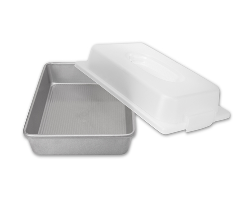 Rectangular Cake Pan and Lid Set