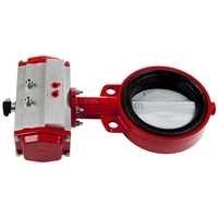 "Bray Butterfly Valve With 6"" Air Actuator Clockwise Action"