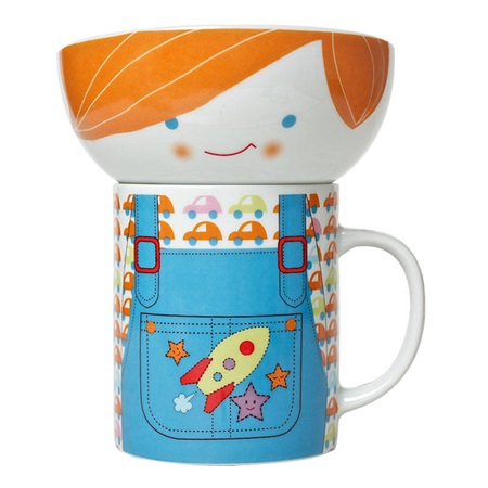 Boy Bowl & Mug Set
