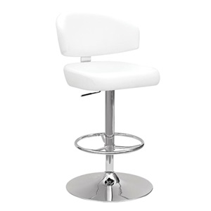 96258 SWIVEL ADJ. STOOL W/WHITE PU