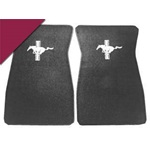 Embroidered Carpet Floor Mats (Maroon)