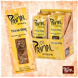 Primal Strips Vegan Jerky, Texas BBQ - 1oz