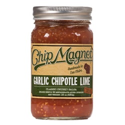 Chip Magnet Salsa, Garlic Chipotle Lime (Medium, Vinegar Free) - 16 oz
