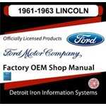 1961-1963 Lincoln Factory Shop Manual, CD