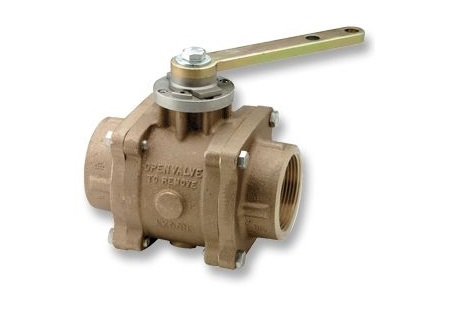 Akron FNPT Brass Swing-Out Ball Valve