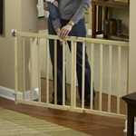 "GuardMaster® III Std. Wood Slat Swing Gate, Hrdw. Mounted ""TOS"""