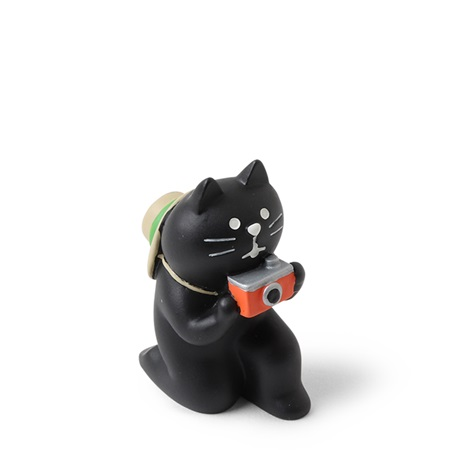 Figurine Cat Photographer