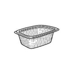 "CI8-5064 9 X 7.4"" 64 OZ CLEAR DELI CONTAINER,"