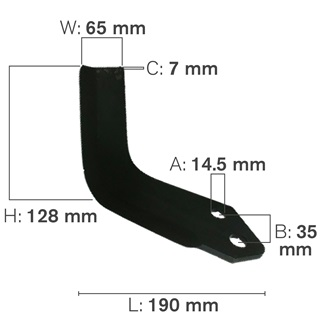 L Shaped Tillage Blade