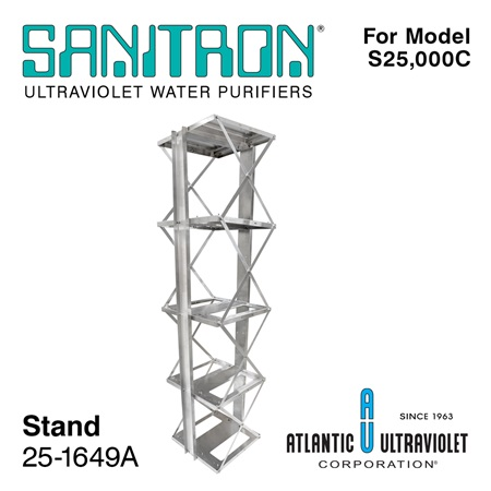 SANITRON Stand for Model S25,000C UV-C Water System