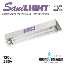 SaniLIGHT® UV Air and Surface Irradiating Fixtures - Two Lamp Instant Start
