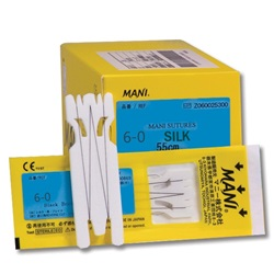 Mani 6-0 Silk Ophthalmic Sutures