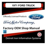 1971 Ford Truck & Van Factory Shop Manual, CD