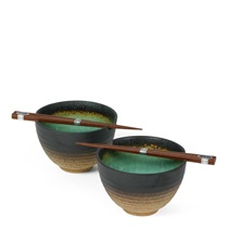 "Kosui Green 5.5"" Bowl Set"