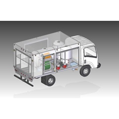 Illustration of other side of Compact Lawn & Shrub Spray Truck