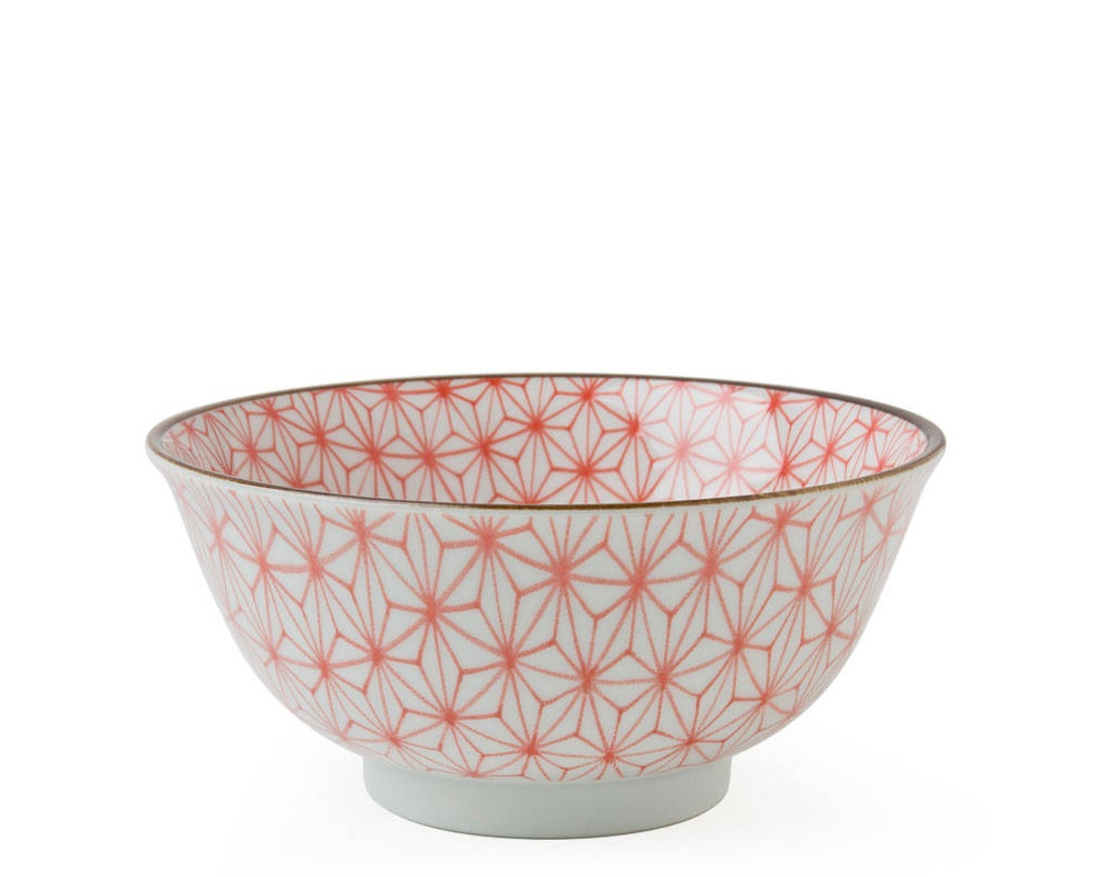 "Asanoha Colors 5.75"" Bowl - Red"