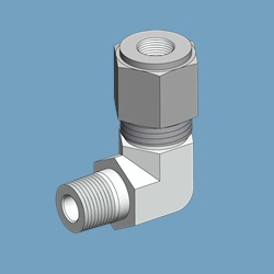 "1/4"" x 1/8"", SS, Tube Fitting, Male Elbow"