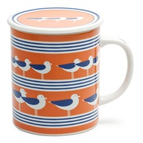 SEAGULLS 8 OZ. LIDDED MUG - ORANGE