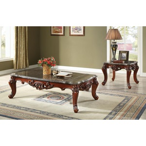 83065 COFFEE TABLE W/MARBLE TOP