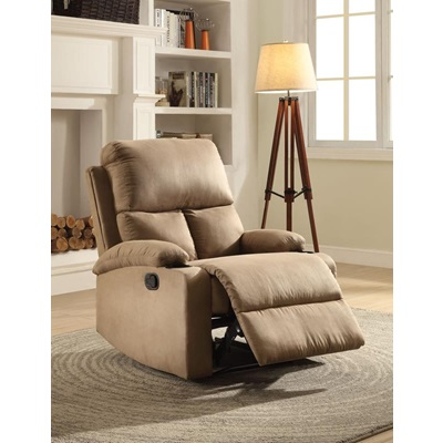 59555 LIGHT BROWN RECLINER