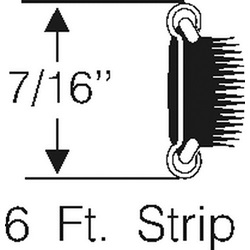 Sliding quarter window strip