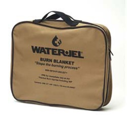 "5"" x 6"" MILITARY BURN BLANKET-PLUS POUCH"