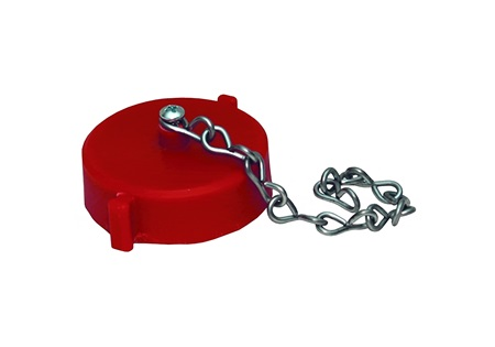 "1 1/2"" NST Plastic Cap With Chain"