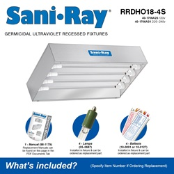 Sani•Ray RRDHO18-4S Included Accessories