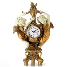 "16.125"" Dancing Cherubs Clock"