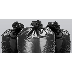"24 X 32"" .5 MIL 12-15 GALLON BLACK CAN LINER, LOW DENSITY, 500/CS  BUSB-32M"