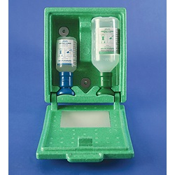 Dual Covered Sterile pH Neutralizing and Sterile Saline Eye Wash Station  (Bel-Art Scienceware)