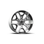 Shelby CS45 22x9.5 Chrome Powder w/Black Inserts