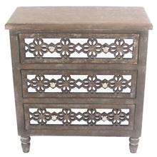 "28.25""H Country Wooden Rustic Cabinet"