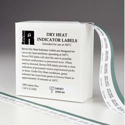 Dry Heat Indicator Labels  (Mesa Labs)