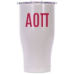 Alpha Omicron Pi Pearl/Clear Chaser 27oz