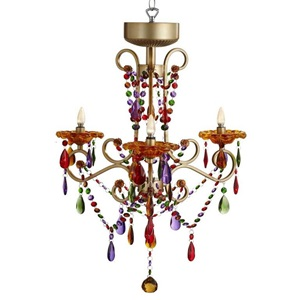 "26.5""H Cordless LED 3 Arm Chandelier"