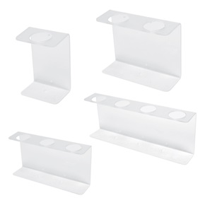 32oz Natural Oblong Dispenser Brackets, Frosted