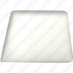 White Square Corner Hard Card