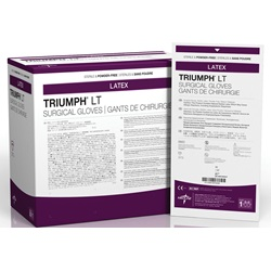 Triumph LT white latex Surgical Gloves