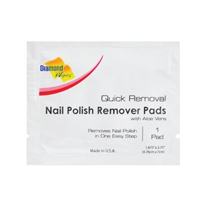 Diamond Nail Polish Remover Pads With Aloe