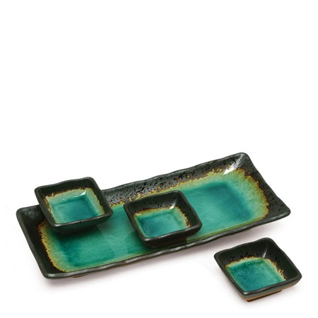 Kosui Green Condiment Plate Set