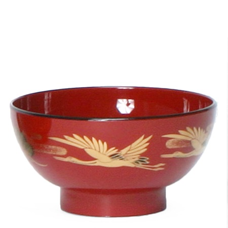 "Bowl Soup 4.5"" Red Crane"